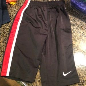 Nike track pants black red white stripe 12 months